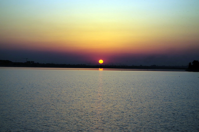 Sunset over Lacul Morii
