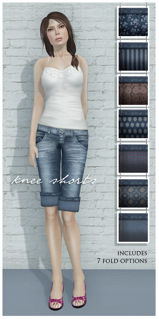 Zaara : Denim knee-shorts