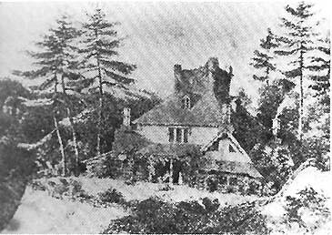 Thomas Cole - Hornby Lodge, pencil sketch, 1841