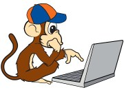 Fantasy Baseball Closer Monkey at his keyboard