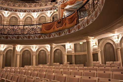 Inside the white theatre