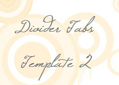 Divider Tabs_Template 2