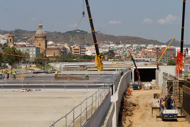 Triangle Ferroviari - Vista desde pasarela de peatones - Norte - 14-09-11