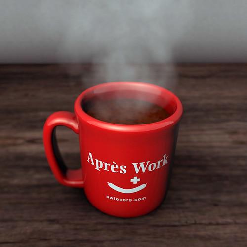 """Swieners """"Après Work"""" Coffee Mug by Meza Boogie, San Diego"""