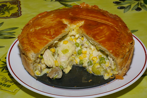 Chicken, pea and sweetcorn pie by La belle dame sans souci