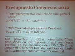 CONACINE Presupuesto 2012