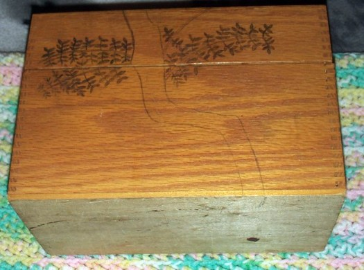 Drawing A Tree To Wood Burn On A Box