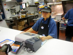 Cashier Lady at the Queens Boulevard White Cas...