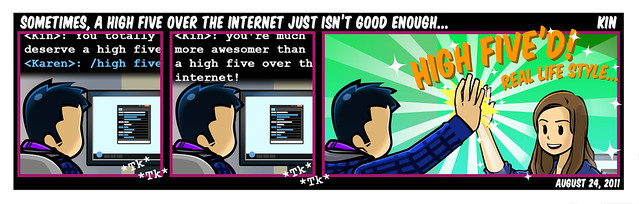 Sometimes, A High Five Over The Internet Just Isn't Good Enough...