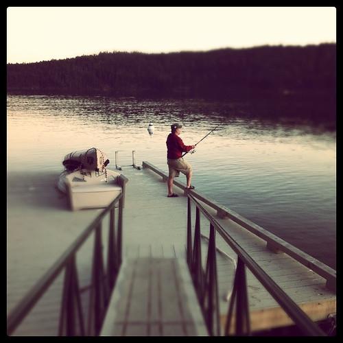 Pender Island - Boris on the dock