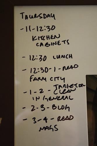 to do list thursday