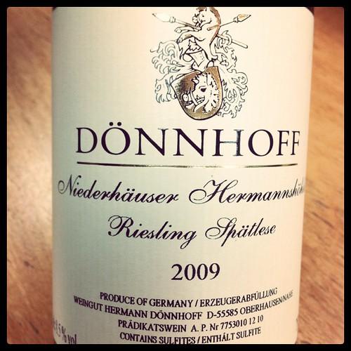 Donnhoff Niederhauser Hermannskin Riesling Spatlese by mengteck