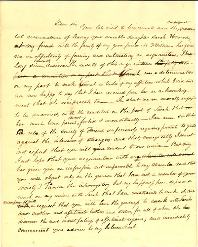 Letter from Samuel Forrer to Horton Howard, ca1825-1826