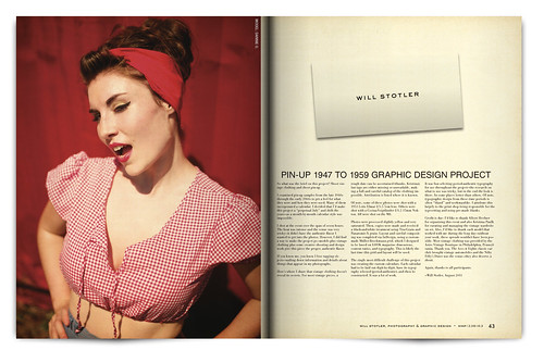Vintage Magazine Spread Design Project - Pgs. 42 & 43
