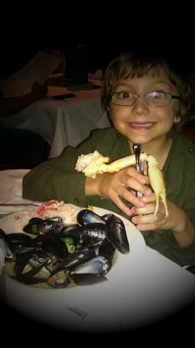 His birthday dinner of choice...