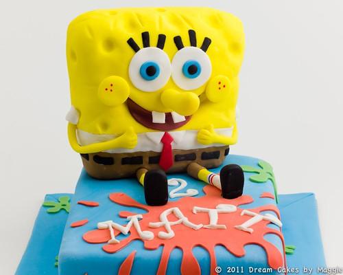 Magnificent Spongebobs Birthday Cake Dream Cakes By Maggie Funny Birthday Cards Online Alyptdamsfinfo