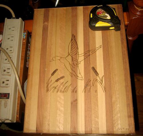 20110717 - yard sale booty - 4 - $5 HUGE cutting board - made 19950407 - IMG_3212