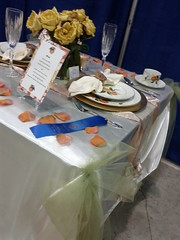Winner of the table setting competition - Oregon state fair