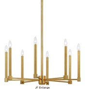 Quiozel brass modern chandelier