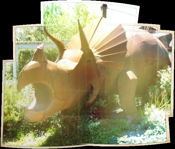 Rusty triceratops.