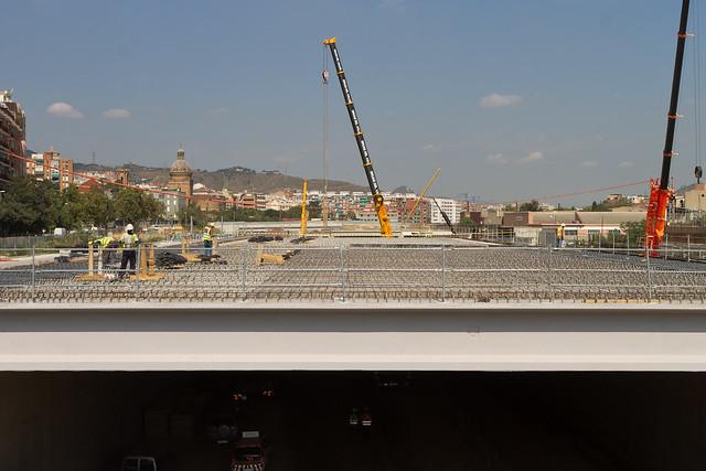 Triangle Ferroviari - Preparando las losas para el hormigonado - 14-09-11