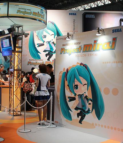 Hatsune Miku: Project mirai's booth
