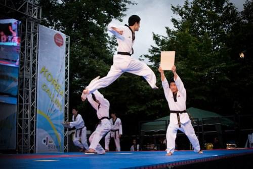 Korean Kukkiwon Taekwondo Team at Mayor's Thames Festival 11 September 2011
