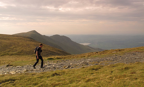 Heading up to the summit of Skiddaw