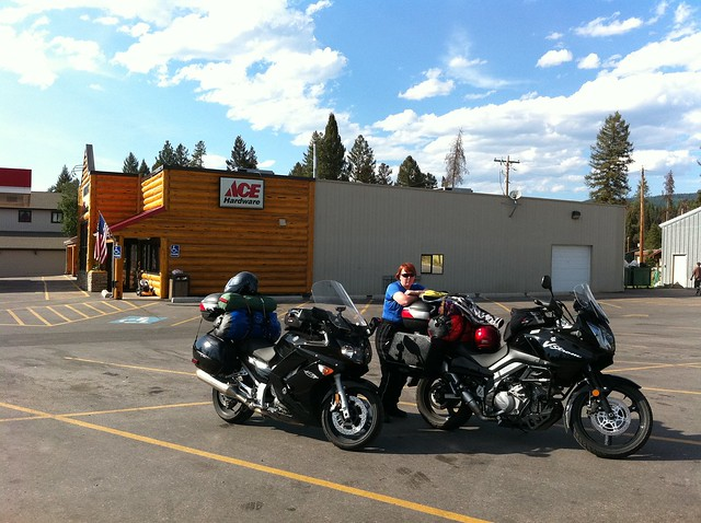 Getting gas in Seeley Lake, MT