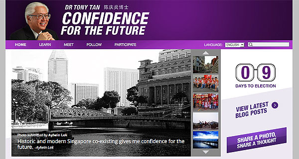 CONFIDENCE FOR THE FUTURE - Dr Tony Tan