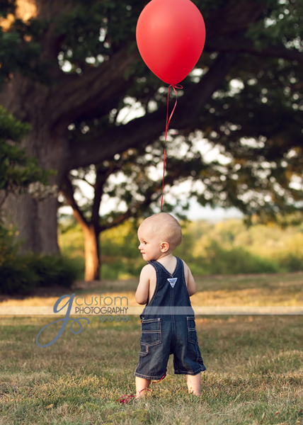 One year portrait Leesburg toddler photographer
