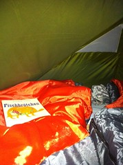 Im Zelt angekommen