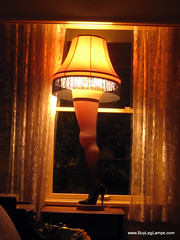 The Leg Lamp at A Christmas Story House