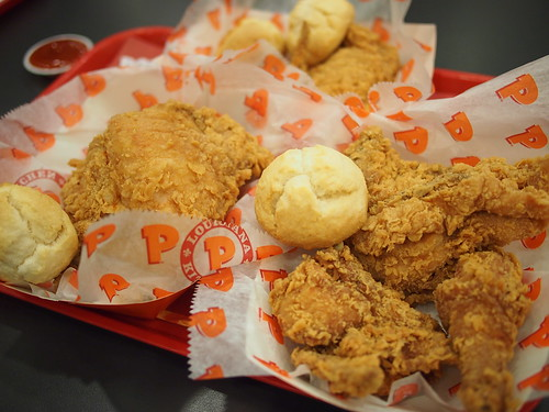 Popeyes Louisiana Kitchen - New Orleans Fried Cajun Chicken and Biscuits