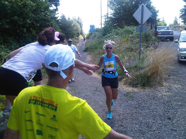 Barb Luscher on the Hood tp Coast trail