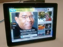 TapInBayArea iPad app home page
