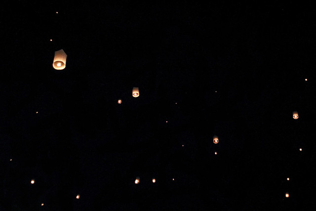 lanterns in the sky