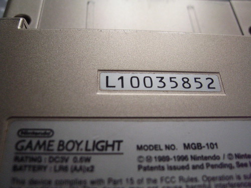 Game Boy Light - serial