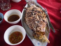 Grilled Fish, Vangmekong, Vientiane