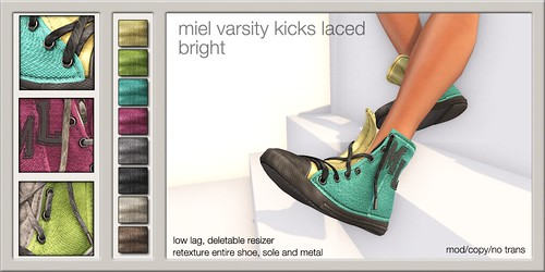 MIEL VARSITY KICKS LACED - bright @ The Deck
