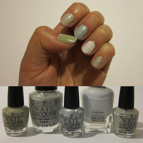 Multi Grey Fingerails