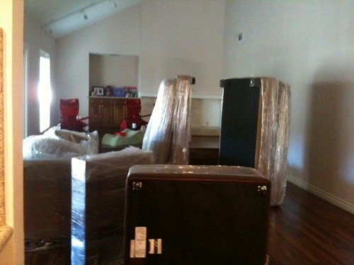 my couch. in pieces. sideways.