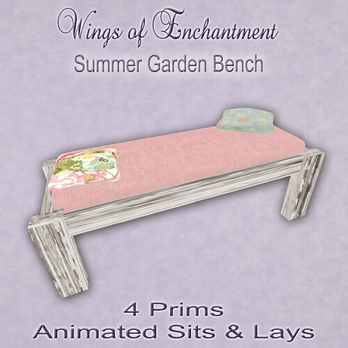 Wings of Enchantment: Summer Garden Bench