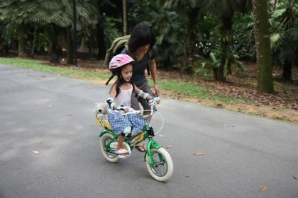 learning how to ride a two-wheel