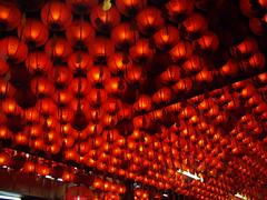 Lanterns at Gong at Lorong Koo Chye Sheng Hong Temple, Arumugan Road