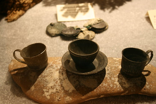 Little childrens' cups and saucers from shipwreck