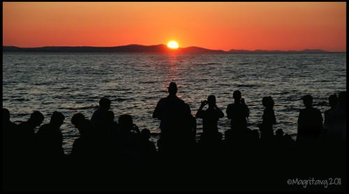 sunset from Zadar