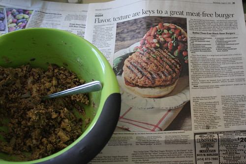 black bean burger and recipe from Journal Sentinel