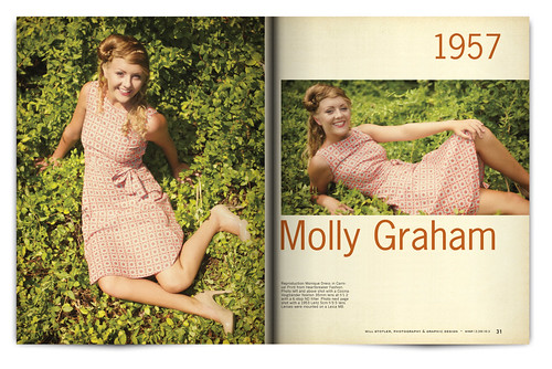Vintage Magazine Spread Design Project - Pgs. 30 & 31