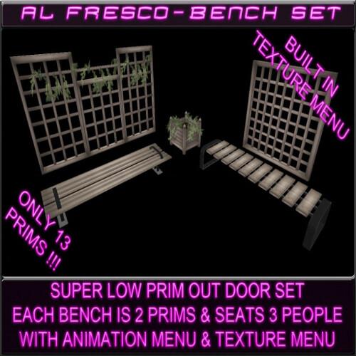 Al Fresco Bench Set